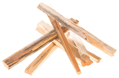 sawed: Firewood isolated on white background Stock Photo