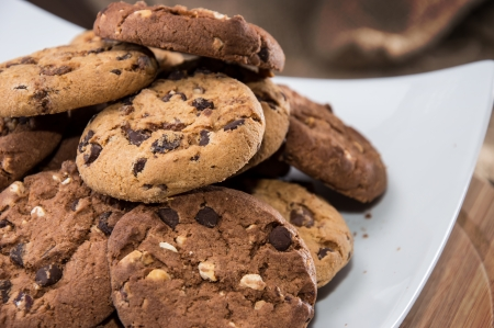 biscuit: Mixed Cookies on a white plate