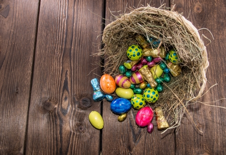 Nest with different sorts of Easter Sweets Stock Photo - 18458515