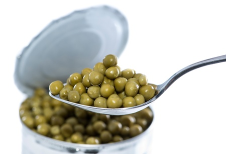 canned peas: Canned Peas isolated on white background