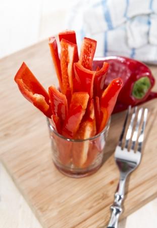 crudite: Crudites stripes (fresh diet food) Stock Photo