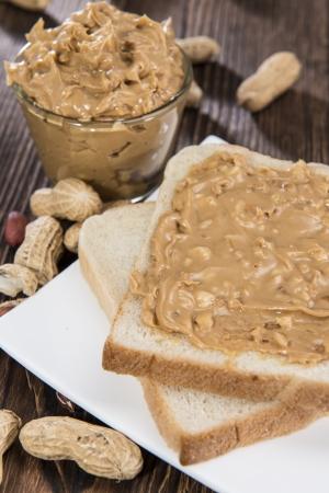 新鮮なピーナッツ バター サンドイッチ