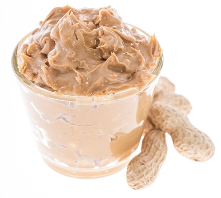 peanut butter and jelly: Peanut Butter isolated on white Stock Photo