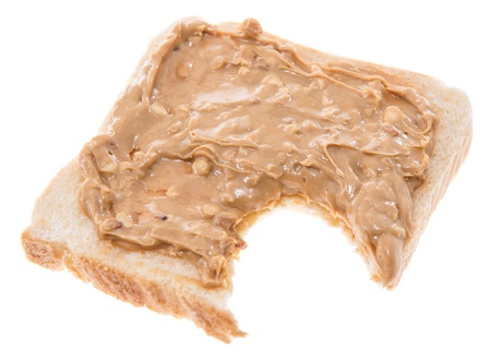 Peanut Butter Sandwich isolated on white photo