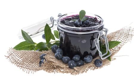 Blueberry Jam isolated on white background Banco de Imagens