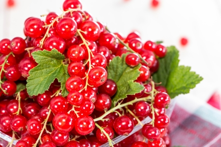 red currants: Heap of fresh harvested Red Currants Stock Photo