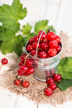 red currants: Portion of fresh Red Currants Stock Photo