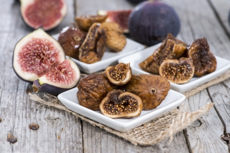 Portion of fresh dried Figs