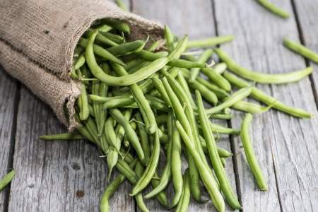 Portion of fresh Green Beans