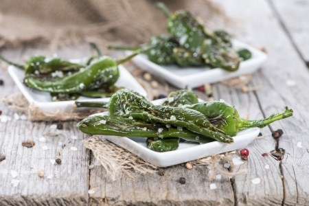 fres: Portion of fres made Pimientos de Padron Stock Photo