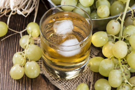 and grape juice: Chilled Grape Juice in a glass