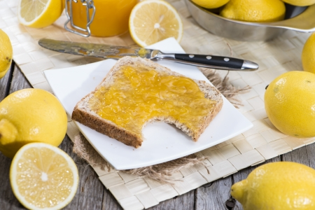 jam sandwich: Lemon Jam Sandwich with fresh fruits