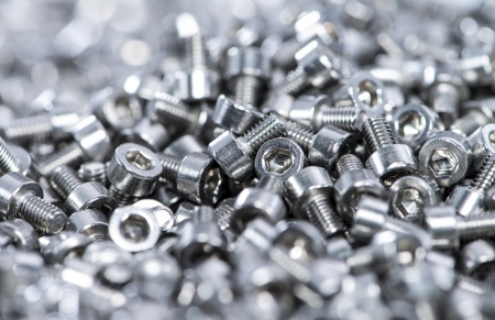 bolts heads: Screws macro shot (image ideal for background use) Stock Photo