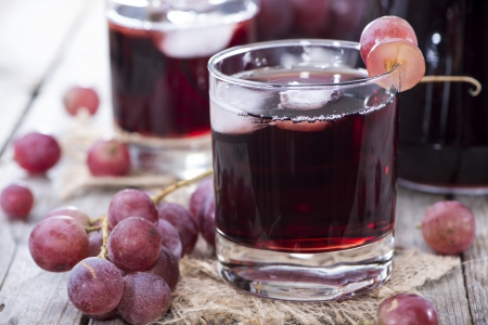 red grape: Glass filled with Red Grape Juice