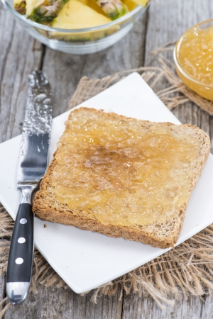 jam sandwich: Pineapple Jam Sandwich on a small plate Stock Photo