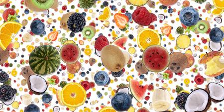 Fruity background isolated on white photo