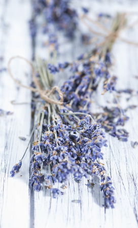 Heap of dried Lavender (close-up shot) for background use photo