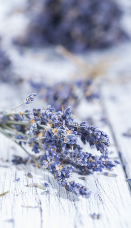 Heap of dried Lavender photo