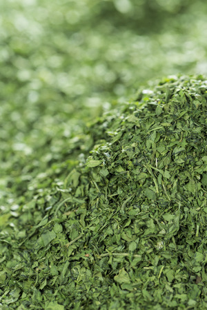 Dried Parsley as high resolution detailed food background image photo