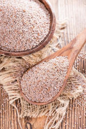 Heap of fresh Psyllium seeds (detailed close-up shot)