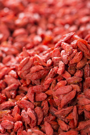 Dried Goji Berries for use as background image or as texture photo