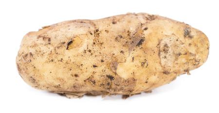 Some fresh Potatoes isolated on white background photo
