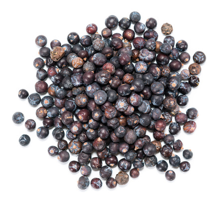 Small portion of Juniper Berries isolated on white background photo