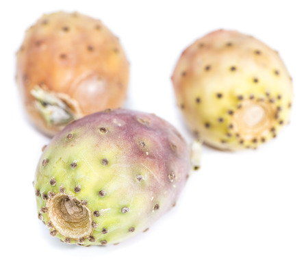 Prickly Pears isolated on pure white background (close-up shot) photo