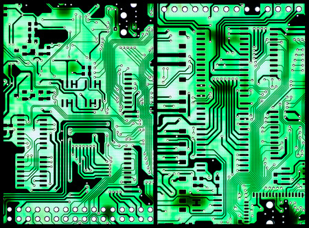 Two Circuit Boards with light in the background for use as background or as texture photo