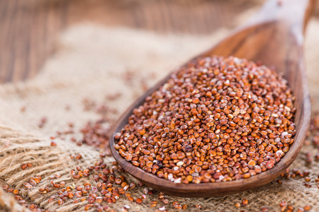 red quinoa: Portion of red Quinoa (detailed close-up shot)