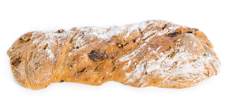 Homemade Ciabatta with dried Tomatoes, Basil and Olives photo