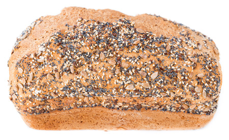 Loaf of bread (isolated on pure white background) photo