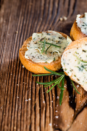 side order: Fresh made Herb Butter Baguettes with garlic