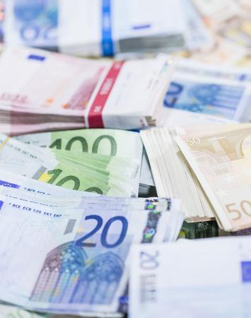 banconote euro: Euro banconote primo piano Archivio Fotografico
