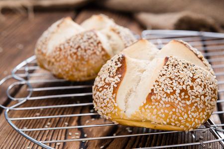pretzel: Pretzel Sesam Rolls Stock Photo