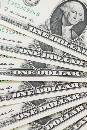 us dollar: US Dollar banknotes as detailed close-up shot Stock Photo