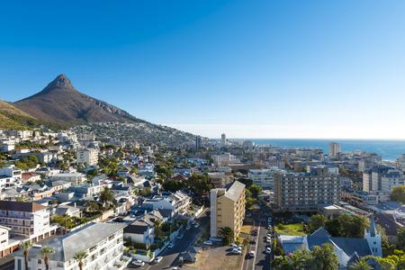 Kaapstad (Sea Point) stad vanaf overhead positie Stockfoto