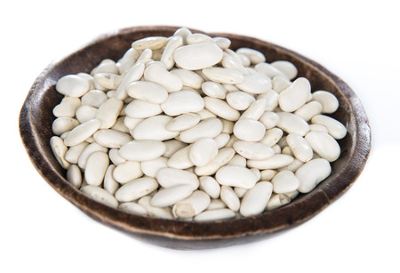 white beans: White Beans isolated on pure white background