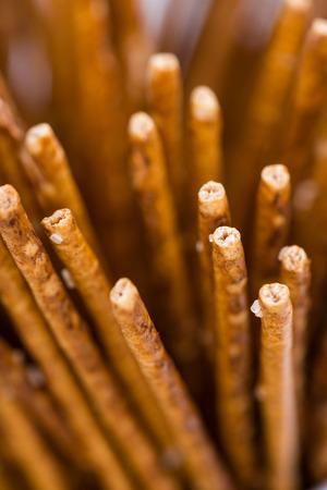 pretzel stick: Portion of Salt Sticks (as detailed close-up shot) Stock Photo