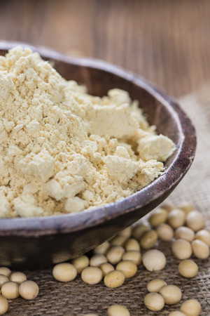 soja: Portion of Soy Flour (detailed close-up shot)