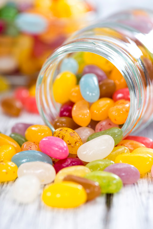 jelly beans: Portion of colorfull Jelly Beans (close-up shot) Stock Photo