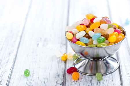 colorfull: Portion of colorfull Jelly Beans (close-up shot) Stock Photo