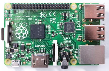 Raspberry Pi (close-up shot as image for editorial use) Banco de Imagens