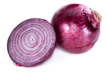Red Onions (close-up shot) isolated on white background Reklamní fotografie