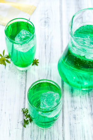 woodruff: Woodruff Drink in a glass (made with syrup)