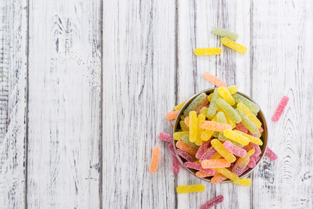 gummi: Gummi Candy (sweet and sour) with selective focus