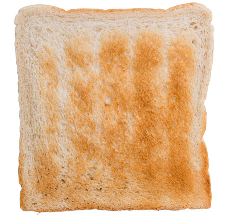 wheat toast: Sliced Toast Bread (isolated on white background) as close-up shot