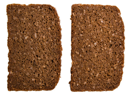 brown bread: Brown Bread isolated on white background (close-up shot)