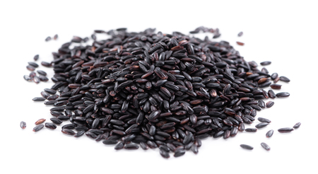 Portion of Black Rice (isolated on white background)