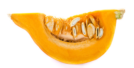 detailed shot: Pumpkin (isolated on white background) as detailed close-up shot
